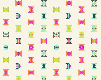 OOP Spirit Animal by Tula Pink - Arrowheads - Electric Sky, cotton fabric