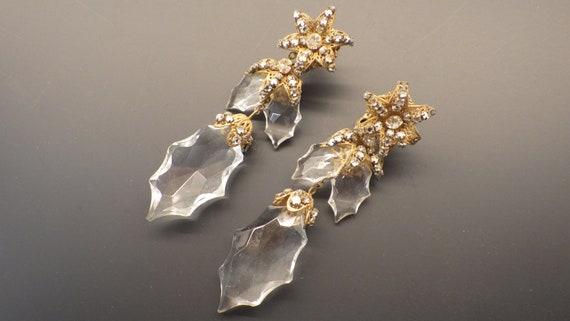 Miriam Haskell Crystal Drop Earrings; Haskell 1960