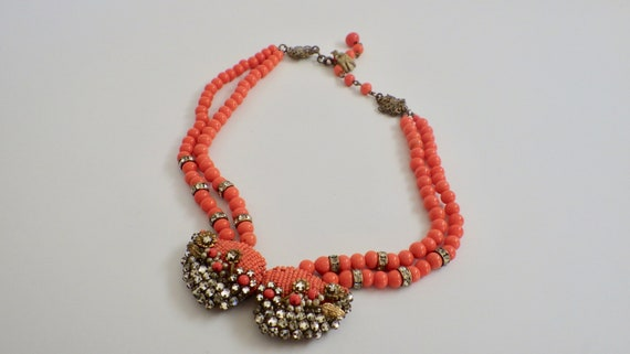 Beautiful Miriam Haskell Seed Bead Necklace; Signe