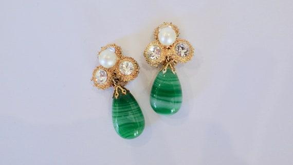 Scaasi Vintage Earrings; Scaasi Runway Couture Cli