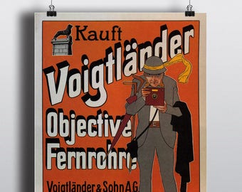 Voigtlander Camera - Vintage Advertising Poster Print