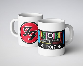 Foo Fighters at Glastonbury Printed Mug