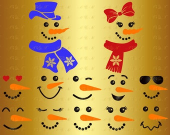 60 OFF Snowman Face SVG Snowgirl Svg Christmas Monogram Decal Digital Download Silhouette Png Eps Dxf Ai Vinyl Cut File Clipart Party Decor