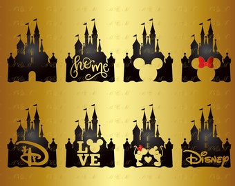 60% OFF Сastle SVG Disney Castle Svg Minnie Bow Silhouette Mickey Mouse Head Face Ears Heart Decal Png Eps Ai Dxf Vinyl Cut File Party Decor