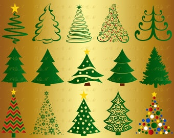 60% OFF Christmas Tree Bundle SVG Pine Tree Silhouette Christmas Decal Kid Xmas Ornaments Digital Snow Clipart Png Eps Dxf Ai Vinyl Cut File