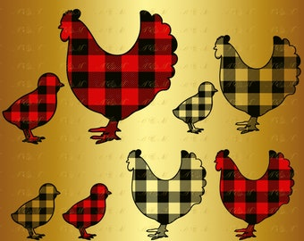 60% OFF Chicken Buffalo Plaid SVG Farm Family Christmas Silhouette Mother Hen Decal Kid Digital Png Eps Dxf Vinyl Cut File Rustic Decor Gift
