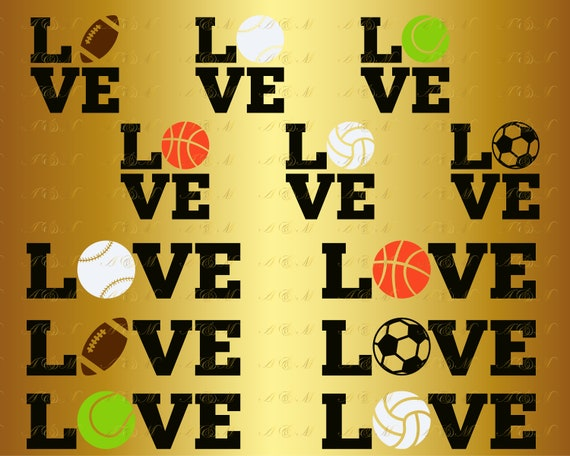 60 Off Love Svg Sports Balls Svg Sport Baseball Basketball Etsy