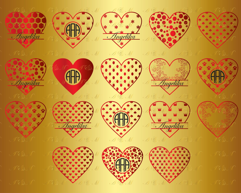 60% OFF Monogram Heart SVG Hearts Svg Png Eps Dxf Vinyl Cut   Etsy