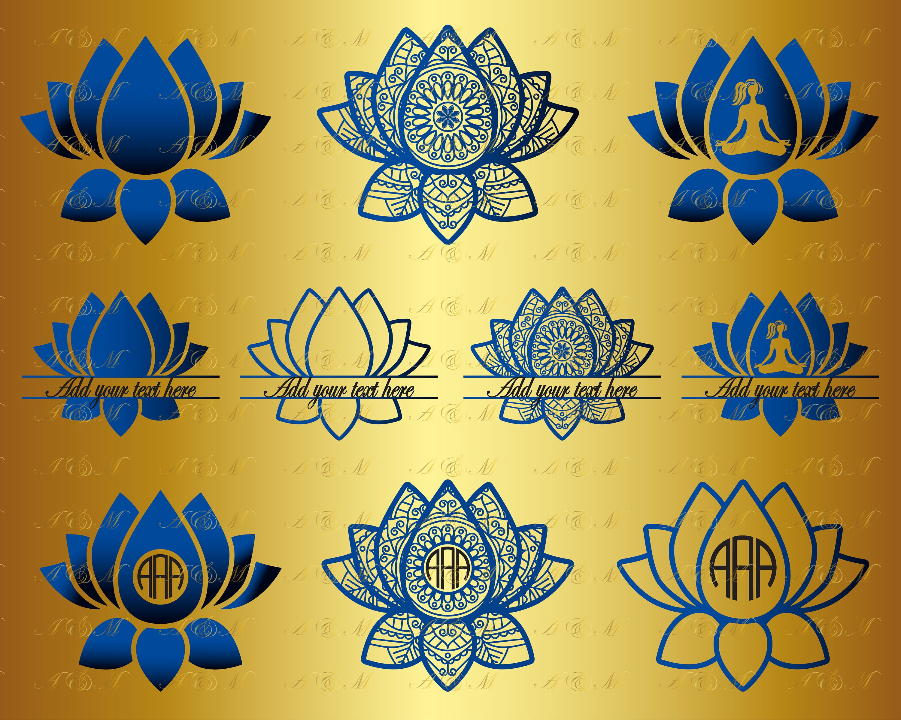 60 Off 10 Lotus Mandala Svg Lotus Flower Zentangle Svg Png Etsy