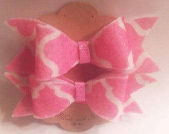 Soft Felt hair bow