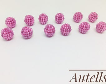 Light Pink- 12mm Round Loose Acrylic Beads/ Pearls Beads / Embellishments / Bracelet Making/Jewellery Making