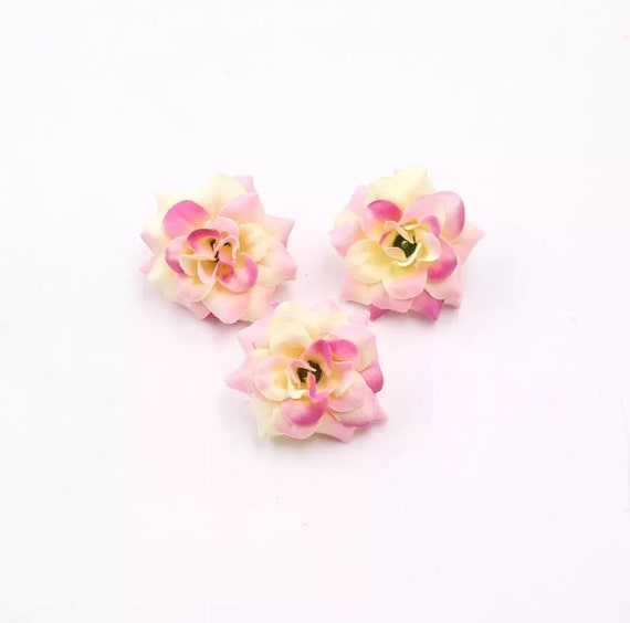 10 pcs artificial flower heads silk flowers buds wedding etsy image 0 mightylinksfo