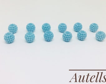 Sky Blue- 12mm Round Loose Acrylic Beads/ Pearls Beads / Embellishments / Bracelet Making/Jewellery Making