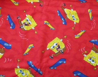 sponge Bob Flannel Fabric