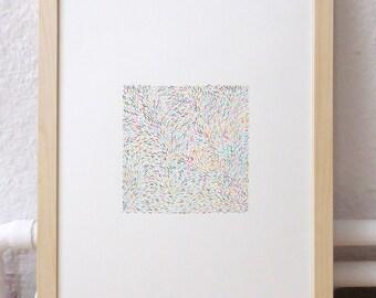 Colour lines – Original drawing – 1 of 4 – 29,5 x 20,5 cm