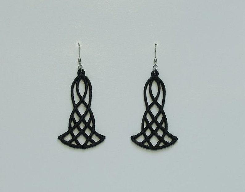 wedding earrings women gift gift Black earrings girls earrings lace gift for her black lace mom gift valentines gift lace earrings