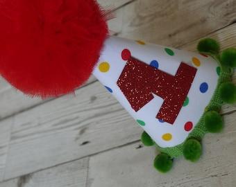 First Birthday Hat Red - 1st Birthday - Baby birthday - Photo Prop - First Birthday Party Hat - Cake Smash - Bow Tie - Spots - Boys