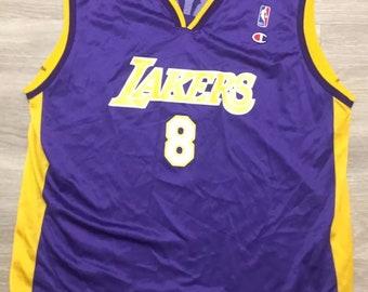 c9711375fa32 Vintage Champion NBA Los Angeles Lakers Kobe Bryant Rookie Jersey Purple Sz  48  8