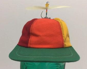 Vintage Interstellar Propeller Hat Cap Child Size Rainbow Retro Multicolor 8ce5a922e89