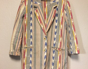 15ae1c5c7f Vintage 90 s Women s Ascente Sport Blazer Jacket Funky Colorful Size Medium