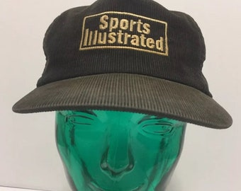 e801d95e88915 Vintage Courduroy Sports Illustrated Hat Brown Snapback
