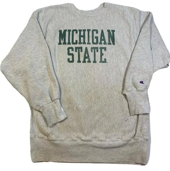 Vintage 80s Champion Reverse Weave Michigan State