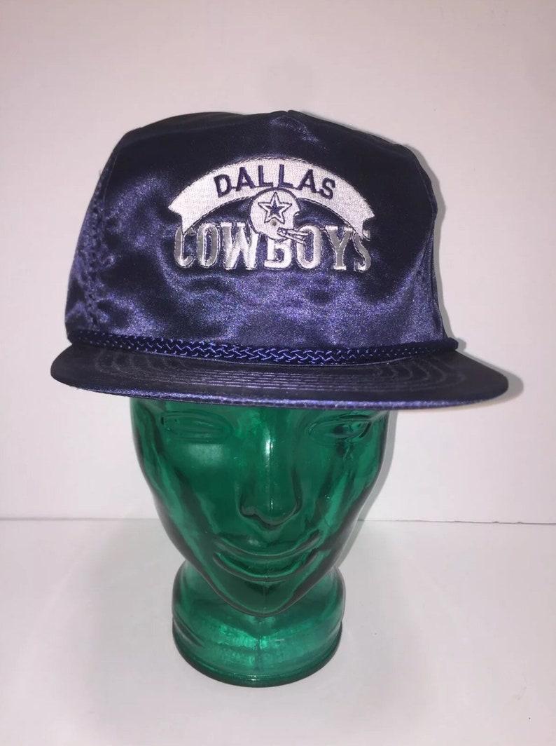 Vintage Dallas Cowboys Satin Trucker Hat Deadstock  08400102c354