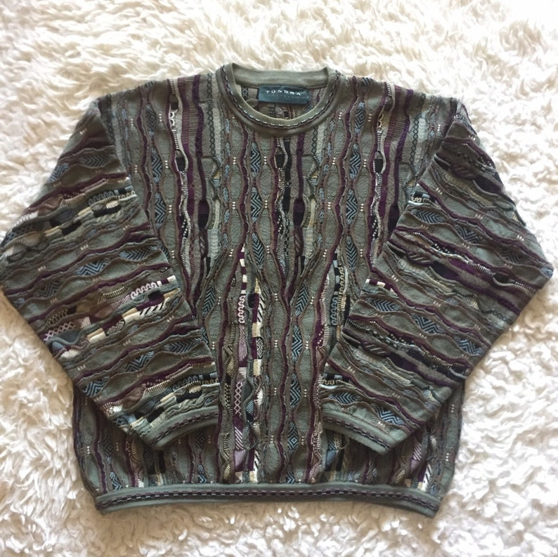 dbe7a584f Vintage Coogi Style Tundra Canada Green Sweater XL