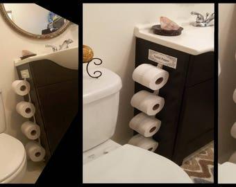 The Toilet Paper Bundler, Toilet Paper Holder, Organizer, Toilet Paper  Space Saver, Toilet Paper Caddy, Toilet Paper Wall Decor
