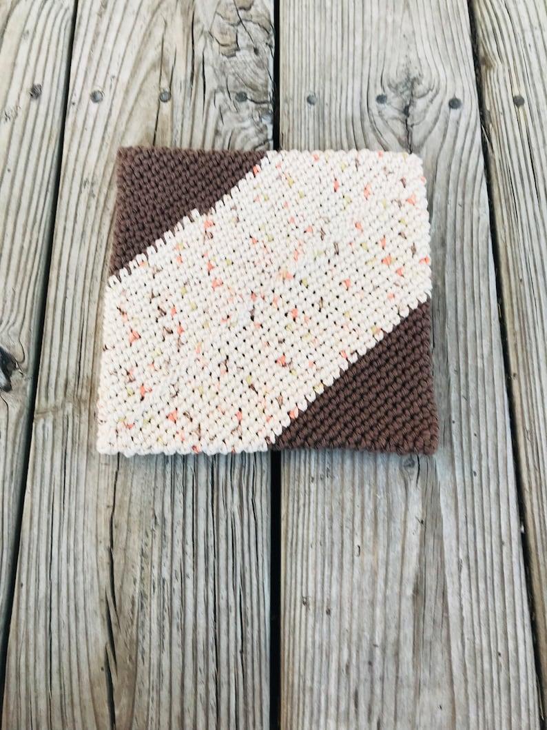 made to order custom color cotton pot holder decor Handmade crochet pot holder pot stand kitchen gift trivet