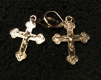 Jesus cross earrings