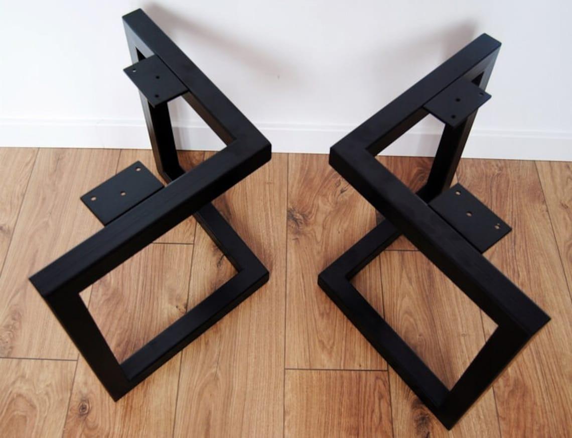 Metal coffee table legs, modern table base