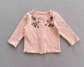 Floral embroidered cardigans