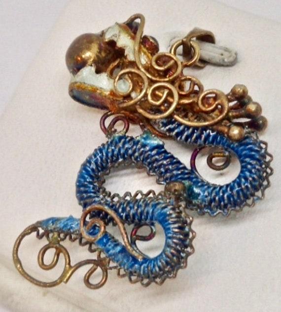 Chinese Dragon Gold Gilt Vermeil Silver Antique En