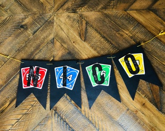 Uno Birthday Banner - Nico