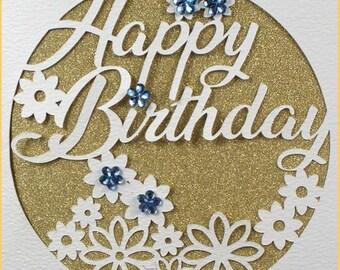 Birthday Card Svg Etsy