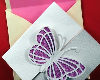 Butterfly Wedding Invite, Wedding Invitation Cut File, Luxury Card Template, Cutting File, svg, dxf, eps, Cricut, Silhouette, Cut File