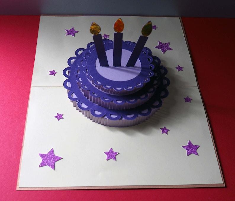 Birthday Cake card SVG Filehappy birthdaycut filePop-up image 0