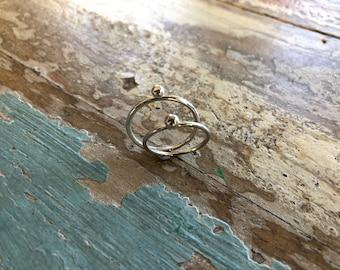 Sterling Silver Dot Ring
