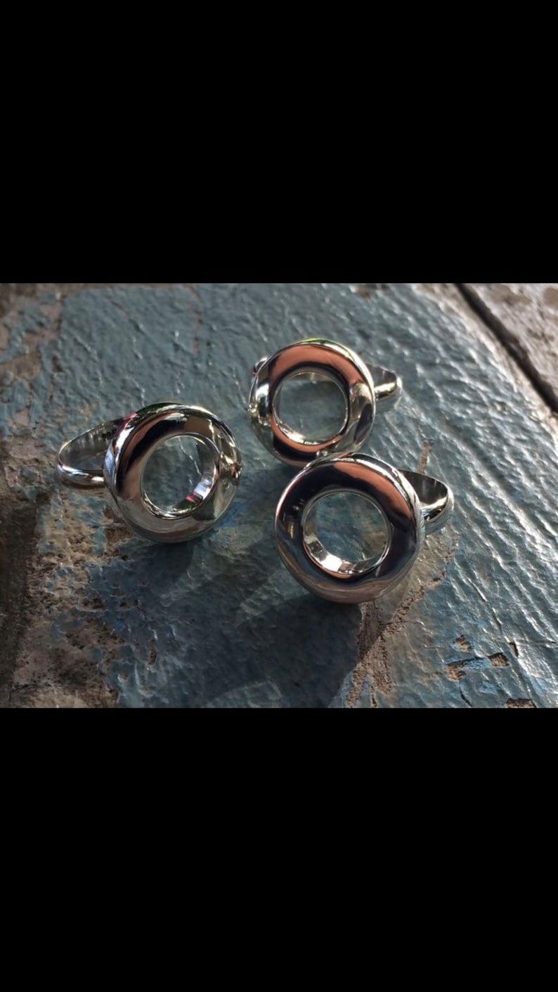 Heavy Hollow Circle Ring