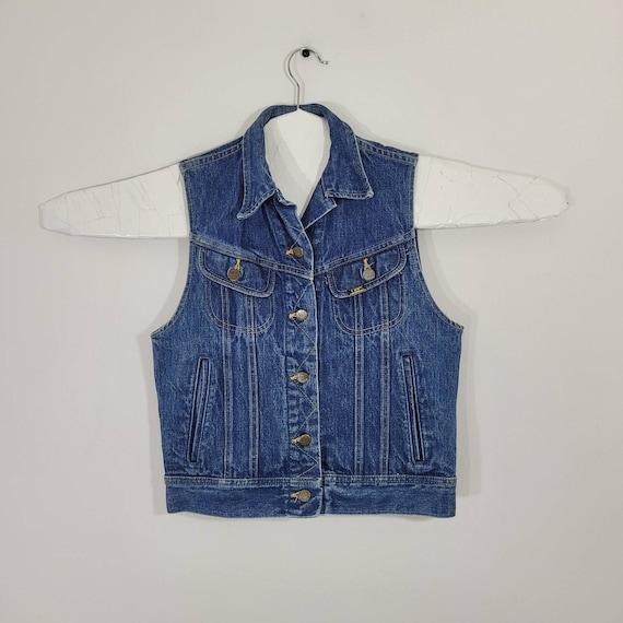 Vintage Ms Lee Denim Vest Woman's Size 7 Made In U