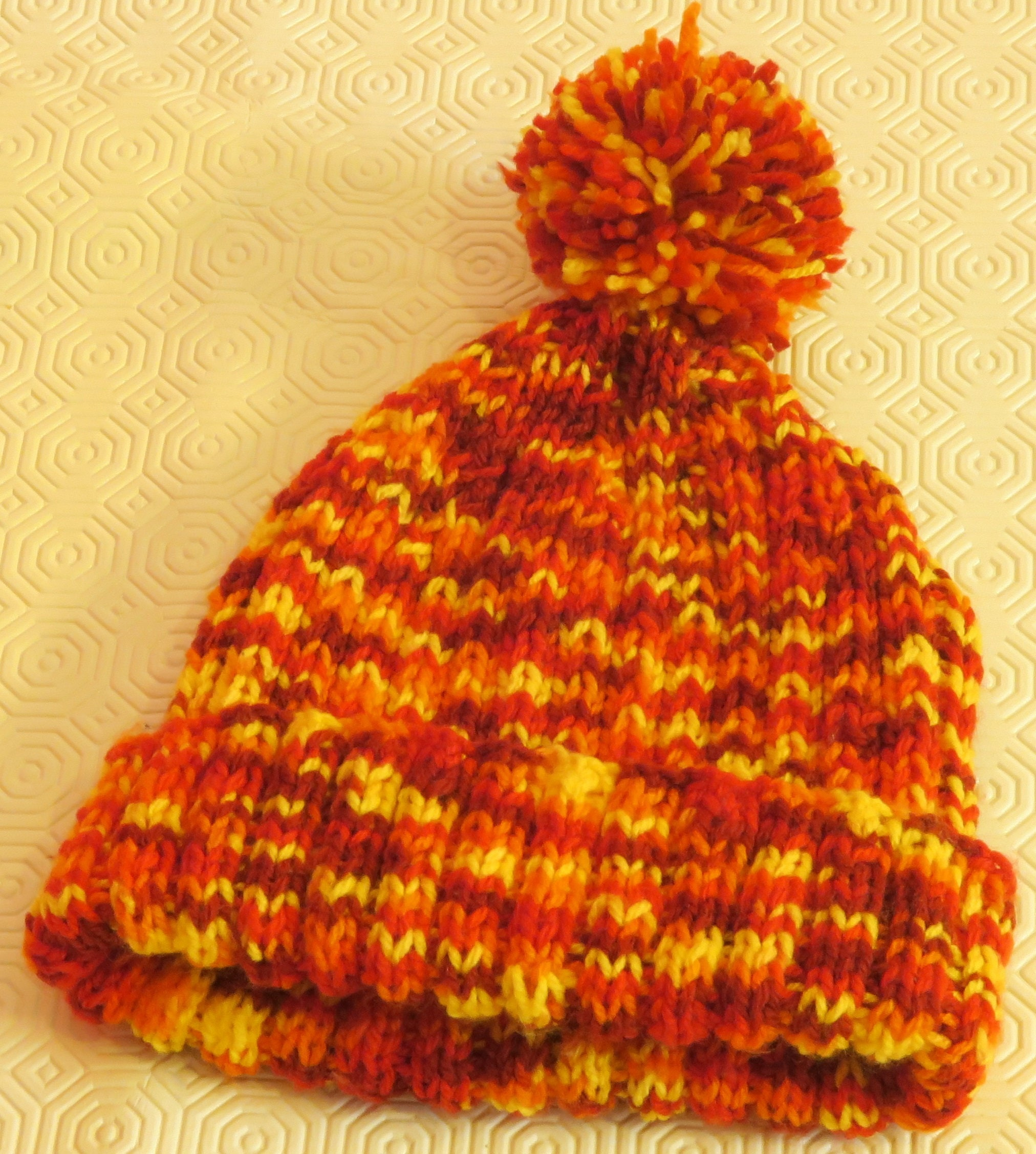 Sunset Fire Hat and Bobble Scarf  cb6e85f3af6d