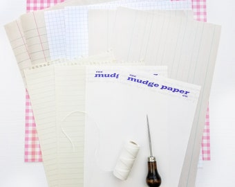 Vintage Paper Pack | 10 Sheets of Mixed Papers | Ledger Paper, Notebook Paper, Lined Paper for Junk Journal Pages