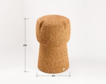 Corkpouf sgabello h cm in sughero pieno naturale e etsy
