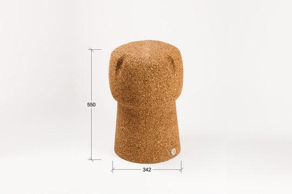 Corkpouf sgabello h 55 cm in sughero pieno naturale e etsy