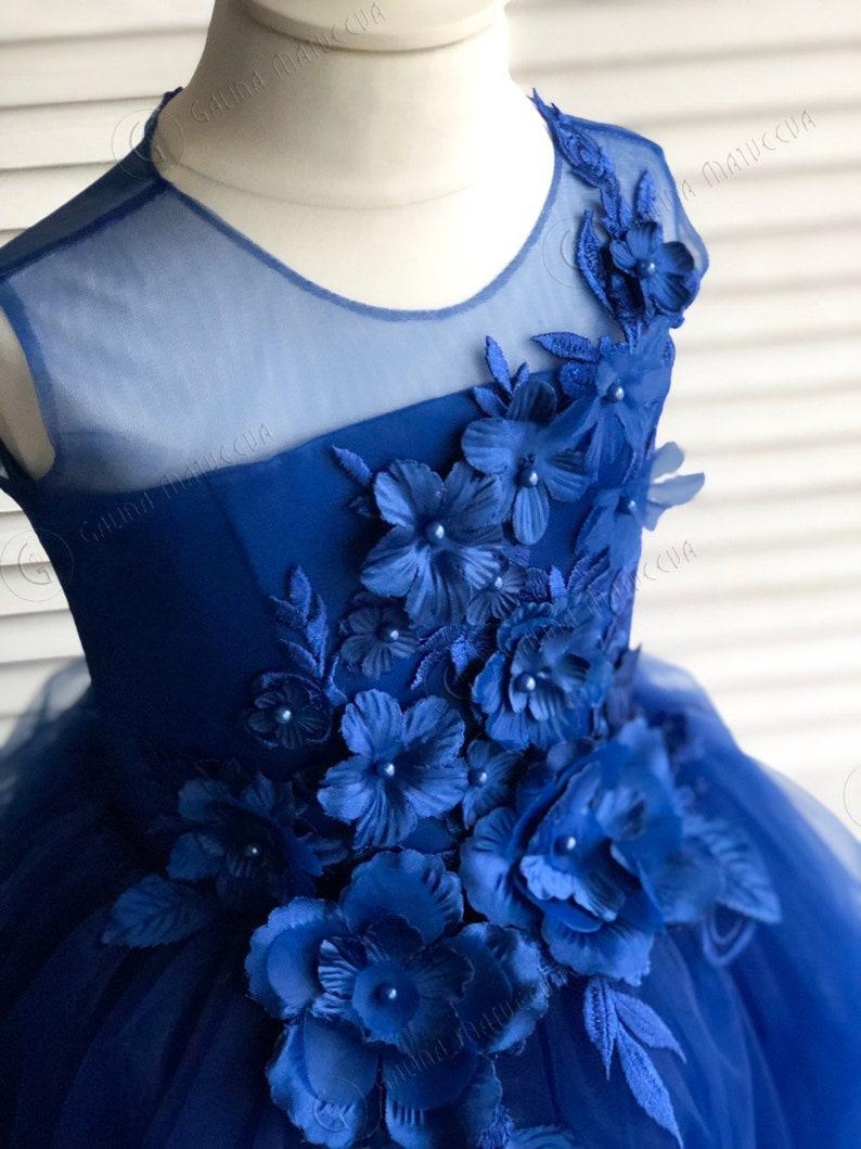 94dfccbba93 Navy Blue Flower Girl Dress Dark Blue Flower Girl Dress