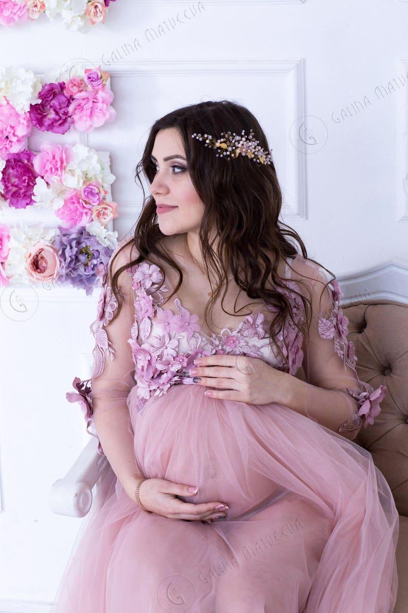 fd40f56929c7 Blush Pink Maternity Dress Blush Pink Maternity Gown Blush | Etsy