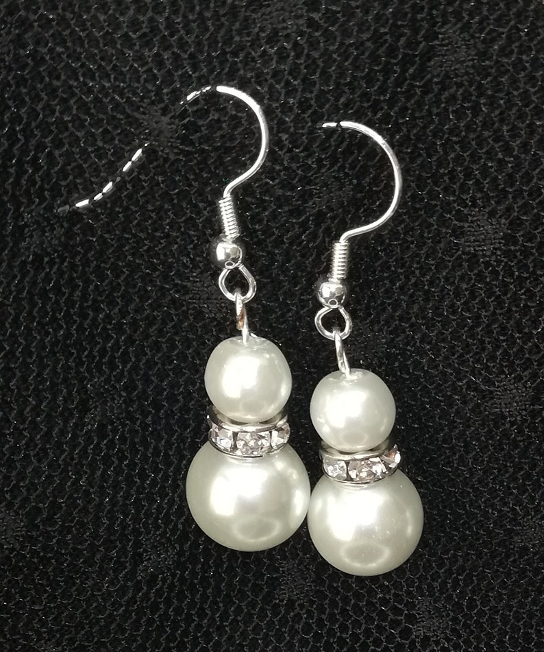 Dangling earrings Mother/'s day Gift for her Wedding Pearl Jewelry With rhinestones Pearl Earrings Bridesmaids Jewelry,Bride jewelry