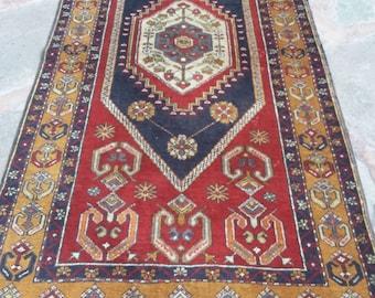 Oushak Area Rug, Turkish Area Rug, Vintage Rug, Holbien rug Carpet, Ushak Carpet Rug, Turkish Carpet, Oriental Rug, Home Decor Rug, 3'3x6'8