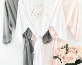 Mrs Robe - Bride Robe Personalized - Bride Robe Satin Bride Gift Ideas Mrs Gifts Bridal Shower Gift for Bride Getting Ready Robe (EB3260P) photo